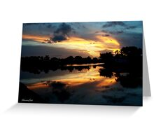 Surreal Perfection ~ Sunset Reflection Greeting Card