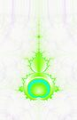 Mandelbrot in Green and Blue by Objowl