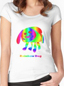 Rainbow Dog Women's Fitted Scoop T-Shirt