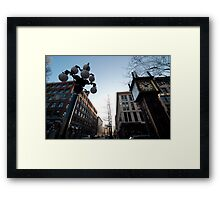 Steam Clock on Water Street - Gastown Framed Print