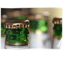 Beer Bottle Bokeh Poster