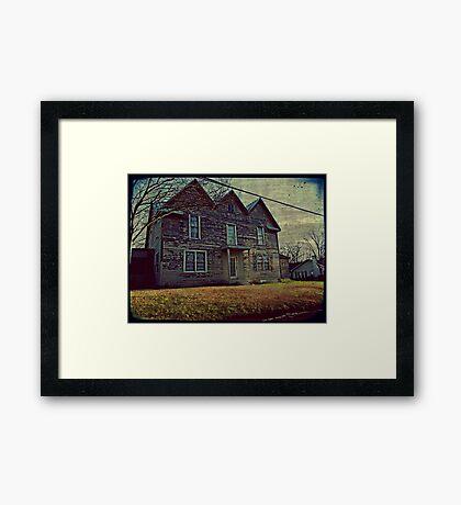 The oldest house in Buford, Georgia Framed Print
