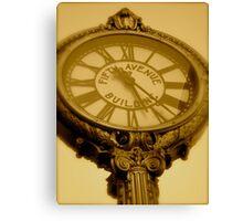 Fifth Avenue Clock Canvas Print