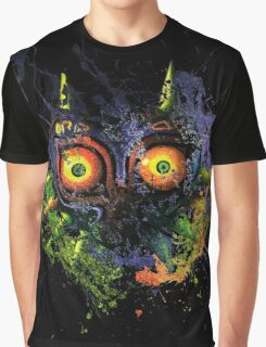 Majora's Mask Paint Splatter Graphic T-Shirt