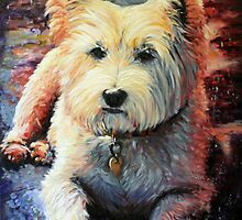 My Westie by Sue de Vanny
