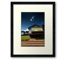 A Hut Full of Sunshine Framed Print