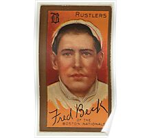 Benjamin K Edwards Collection Frederick T Beck Boston Rustlers baseball card portrait Poster