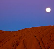 Moon over Uluru by Michele Binder