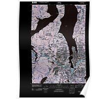 USGS Topo Map Washington State WA Tumwater 20110519 TM Inverted Poster