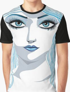 Fantasy blue haired girl Graphic T-Shirt
