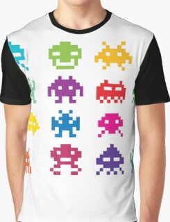 Space Invaders 8-Bit Graphic T-Shirt