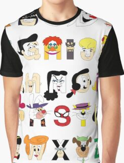 Child of the 60s Alphabet Graphic T-Shirt