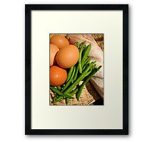 Country Basket Framed Print