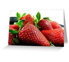 Fresh Juicy Strawberries Greeting Card