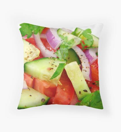 Macro Fresh Salad Throw Pillow