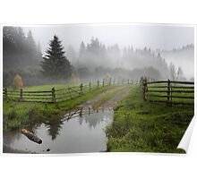 Foggy evening Poster
