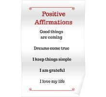 Positive Affirmations List Poster