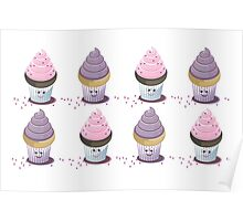 eight cupcakes Poster