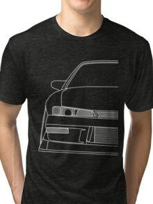 s14 outline - white Tri-blend T-Shirt
