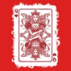 QUEEN OF HEARTS, poker card. by Alicia Design