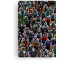 Sea of Cyclists Canvas Print