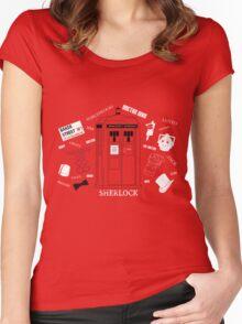 Three Fandoms Tee Women's Fitted Scoop T-Shirt