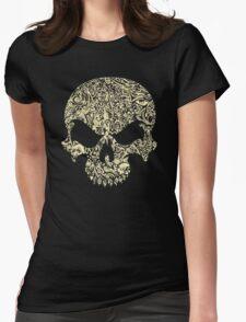 Halloween Swirly Skull Womens Fitted T-Shirt