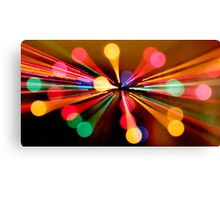 Abstract Christmas Bokeh Canvas Print