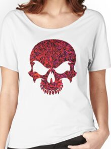 Halloween Red Swirl Skull Women's Relaxed Fit T-Shirt