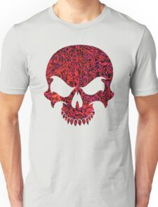 Halloween Red Swirl Skull Unisex T-Shirt