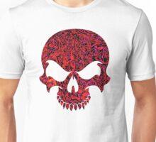 Halloween Red Swirl Skull Unisex T-Shirt