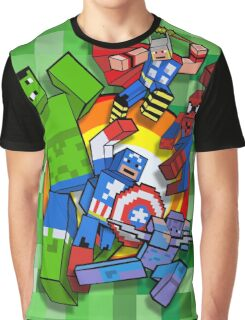 Cute Cube superheroes Group Graphic T-Shirt