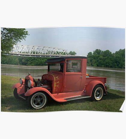 1929 Ford Hot Rod Pickup Poster