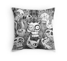 Monster and Thank you illustration Throw Pillow