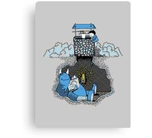 Nightlights and Oven Mitts | Cute Monster Illustration Canvas Print