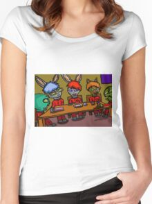LUNCH TIME WITH FRIENDS  Women's Fitted Scoop T-Shirt
