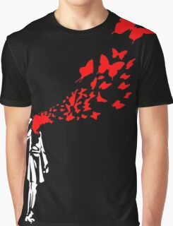 Banksy Butterfly Girl Graphic T-Shirt