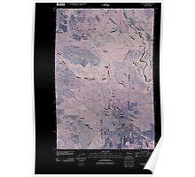USGS Topo Map Washington State WA Glenwood 20110425 TM Inverted Poster