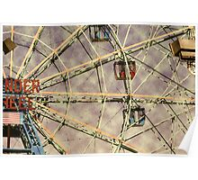 Vintage Wonder Wheel Poster