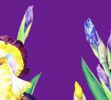 Iris garden Purple Sky Sticker