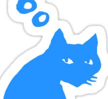 Cat thinking about Pi Sticker