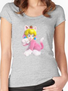 Cat Peach Women's Fitted Scoop T-Shirt