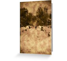 New York Blizzard Greeting Card
