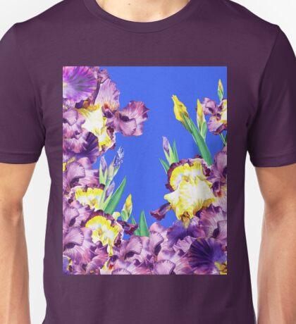 Iris Garden Blue Blue Sky Unisex T-Shirt