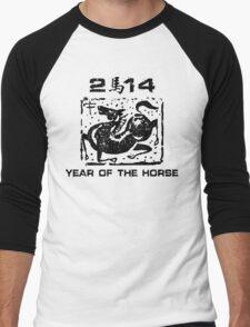 Chinese New Year of The Horse 2014 Men's Baseball ¾ T-Shirt