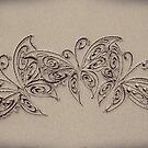 Three Little Butterflies by CarlyMarie