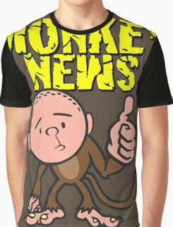 Karl Pilkington - Monkey News Graphic T-Shirt