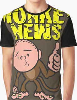 Karl Pilkington - Monkey News Graphic T-Shirt
