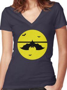 Halloween Batty - Hanging Around Women's Fitted V-Neck T-Shirt