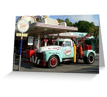 Oscar's Super Service Gas Station In WDW Hollywood Studios Greeting Card